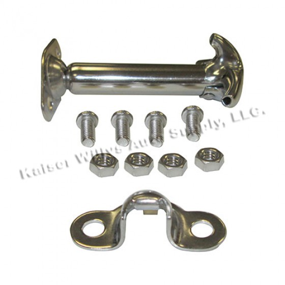 Stainless Steel Hood Catch Kit, 41-71 Jeep & Willys