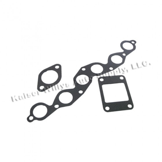 Manifold Gasket Set, 41-53 Jeep & Willys with 4-134 L engine