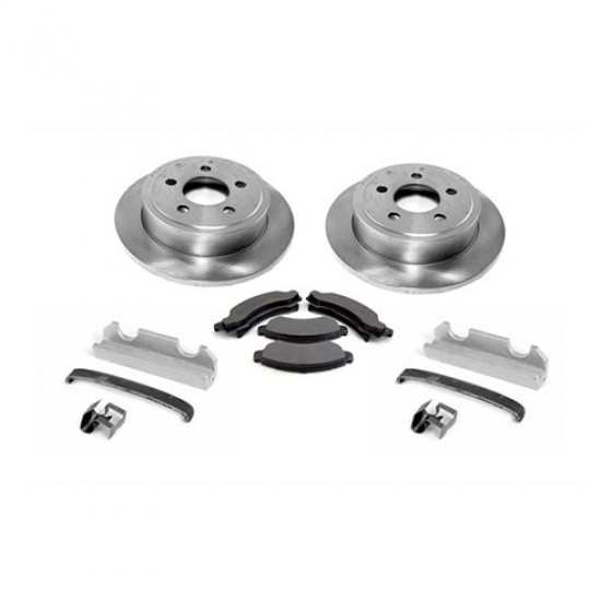 Front Disc Brake Service Kit with 6 Bolt Caliper Plate, 76-78 CJ