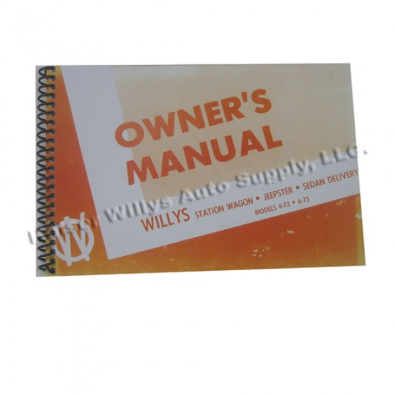 Owners Manual  Fits  50-51 Station Wagon with Planar Suspension (2wd)