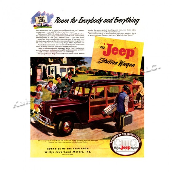 Vintage Willys Ad Room for Everything