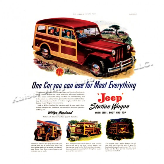 Vintage Willys Ad One for Most Everything