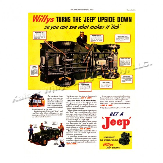 Vintage Willys Ad Willys Turns Upside Down