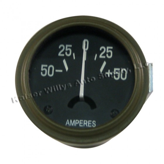 Instrument Panel Ammeter Gauge, 41-45 Willys & Jeep MB, GPW