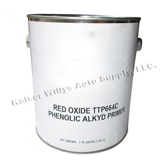 Red Oxid Primer Paint (Gallon), 41-71 Jeep & Willys