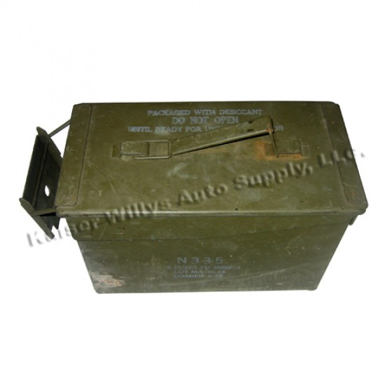 50 Caliber Ammunition Can (for use with 30/50 cradle)  Fits  41-66 MB, GPW, M38, M38A1