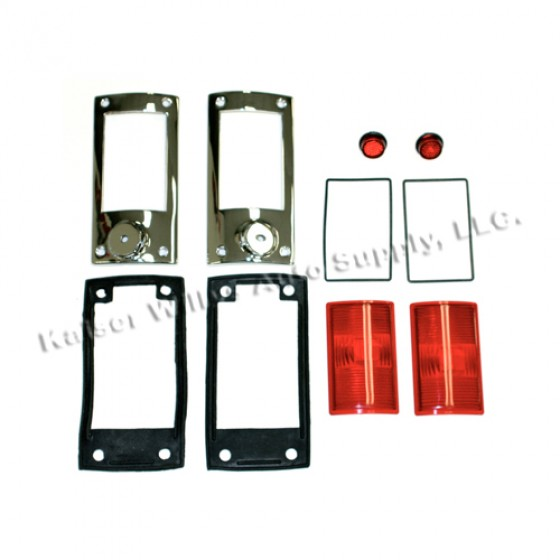 Tail & Stop Light Kit, 52-64 Willys Station Wagon