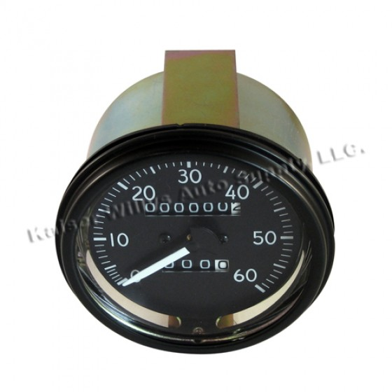Complete Speedometer Assembly 0-60 MPH, 41-66 Willys & Jeep MB, GPW, M38, M38A1