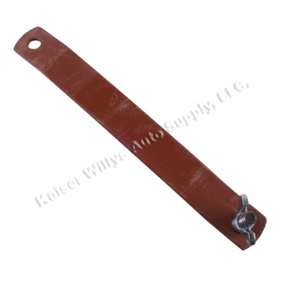 Battery Hold Down Strap to Fender, 41-45 MB, GPW