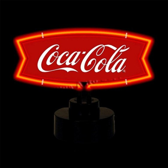 """Neon """"Coca-Cola"""" Fishtail Sculpture Fits Willys Accessory"""