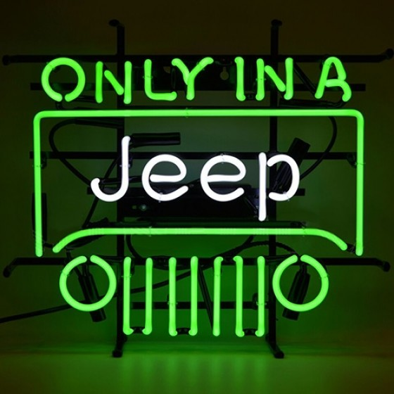 Only In A Jeep Neon Wall Sign