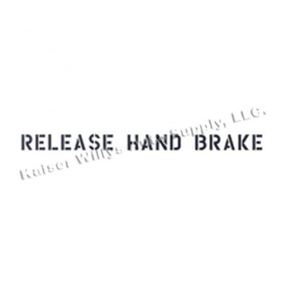 """New Standard 1"""" Release Hand Brake Paint Mask Stencil Fits  41-71 Jeep & Willys"""