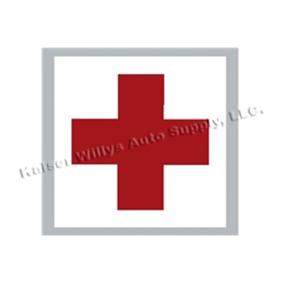 New Medical Cross Decal Fits  41-71 Jeep & Willys
