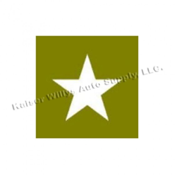 """Paint Mask Stencil 16"""" Star Fits  41-71 Jeep & Willys"""