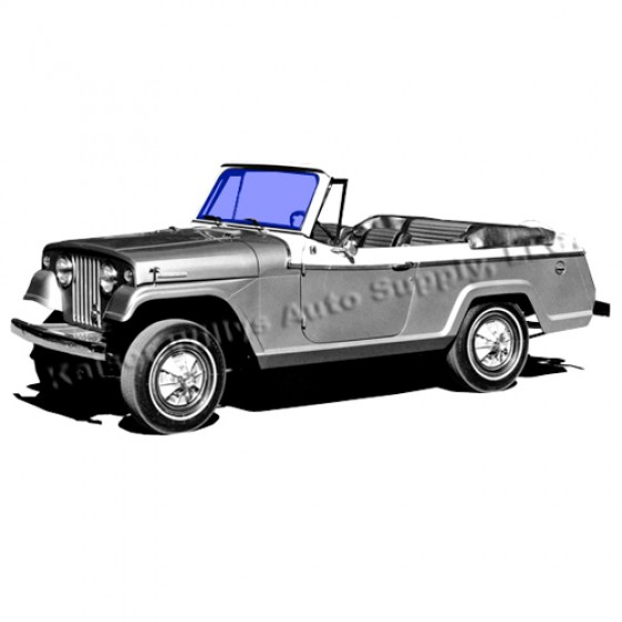 jeep jeepster new replacement windshield glass fits 67 71 jeepster commando