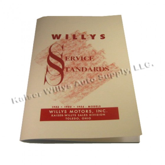 Willys Service Standards Manual Fits  All Willys & Jeeps