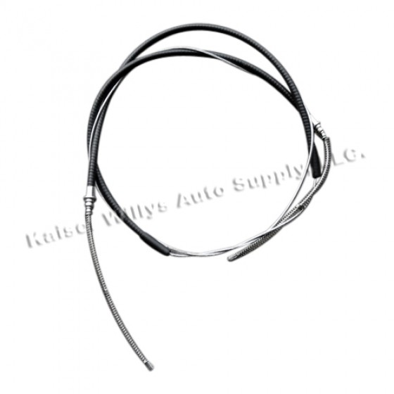 Rear Hand Brake Cable, 46-51 Jeepster, Station Wagon with Planar Suspension