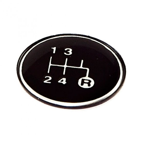 Transmission Shift Pattern Plate, 80-86 CJ with Tremec T176 or T177 4 Speed Transmission