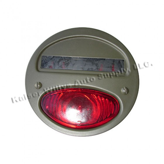 Tail & Stop Light Assembly in F Script, Driver Side, 41-45 GPW