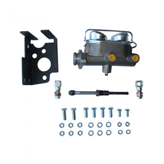 Disc Brake Dual Reservoir Master Cylinder Kit,  41-71 MB, GPW, CJ-2A, 3A, 3B, 5, M38, A1