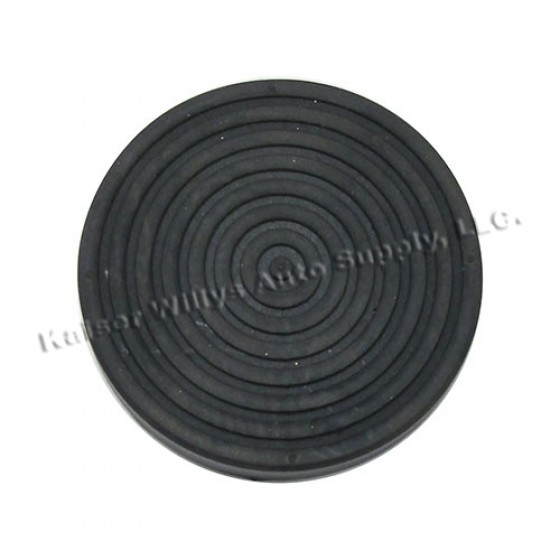 Clutch & Brake Pedal Rubber Pad, 46-64 Willys Truck, Station Wagon, Jeepster