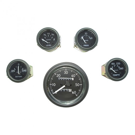 Complete Speedometer Assembly and Gauge Kit (24 Volts - 0-60), 50-66 M38, M38A1