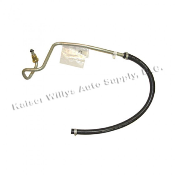 Power Steering Return Hose from Gear Box to Pump, 80-86 CJ with 6 Cylinder