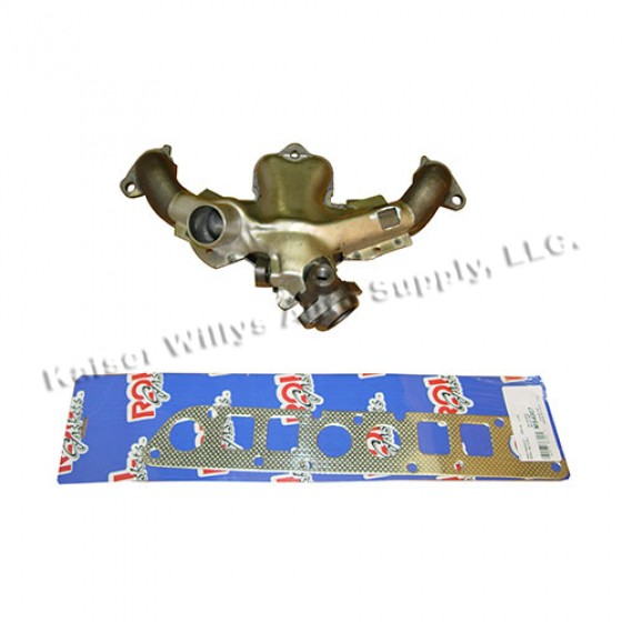 Exhaust Manifold Kit with Gasket, 84-86 CJ with 2.5L 4 Cylinder