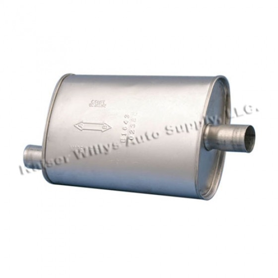 Replacement Muffler without Converter, 76-78 CJ with 6 Cylinder