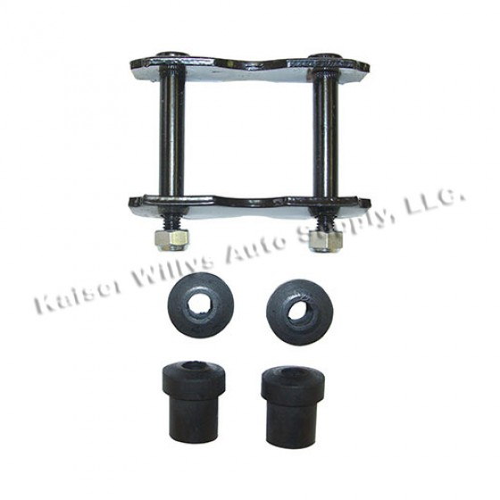 Front Spring Shackle Kit with Bushings, 76-86 CJ