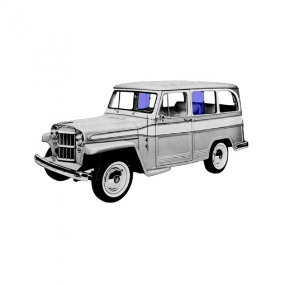 New Replacement Side Fixed Glass Fits  47-64 Station Wagon