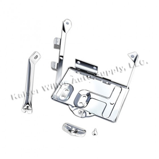 Battery Tray in Stainless, 76-86 CJ