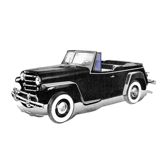 Vent Glass (2 required), 48-51 Willys Jeepster