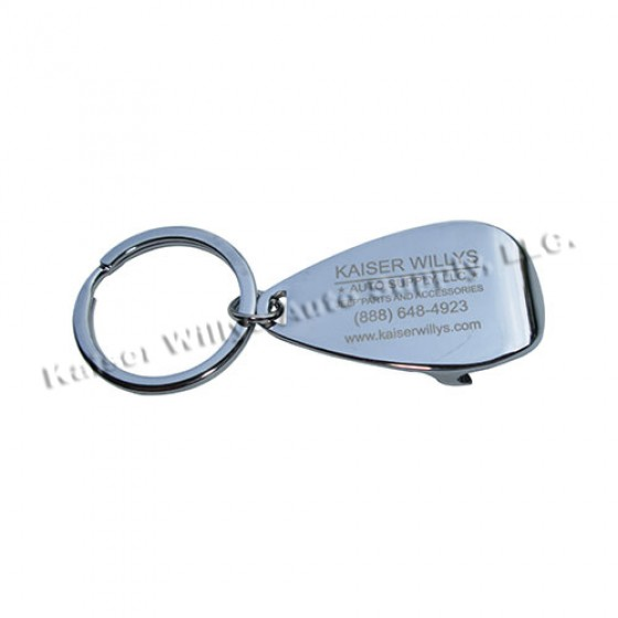 Kaiser Willys Bottle Cap Jeep Keychain, Willys Accessory