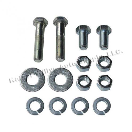 Spare Tire Support Bracket to Body Hardware Kit, 46-71 CJ-2A, 3A, 3B, 5