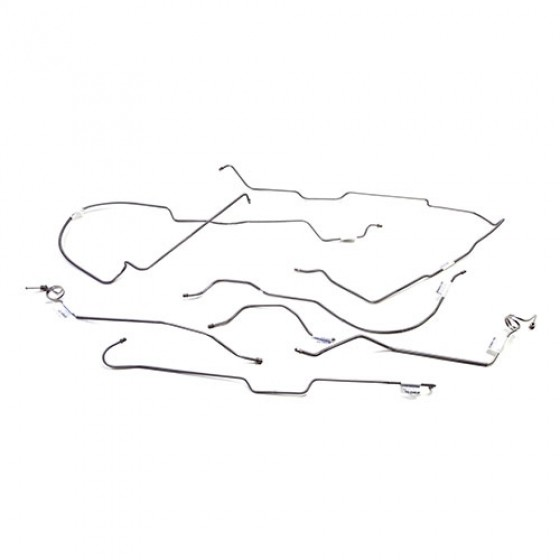 Stainless Steel Brake Line Set without Quatratrac, 76-80 CJ-7