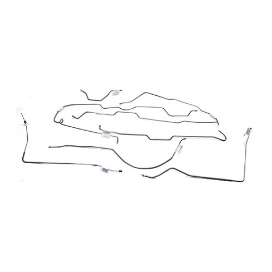 Stainless Steel Brake Line Set, 77-80 CJ-5