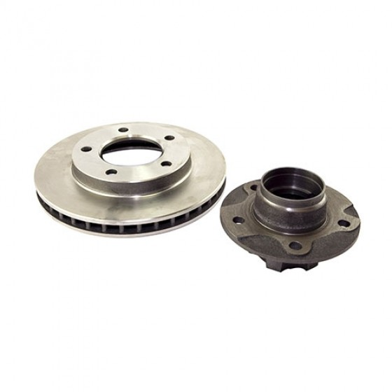 Front Wheel Hub and Rotor with 7/8 Inch Thick Rotor, 6 Bolt Hub, 78-81 CJ