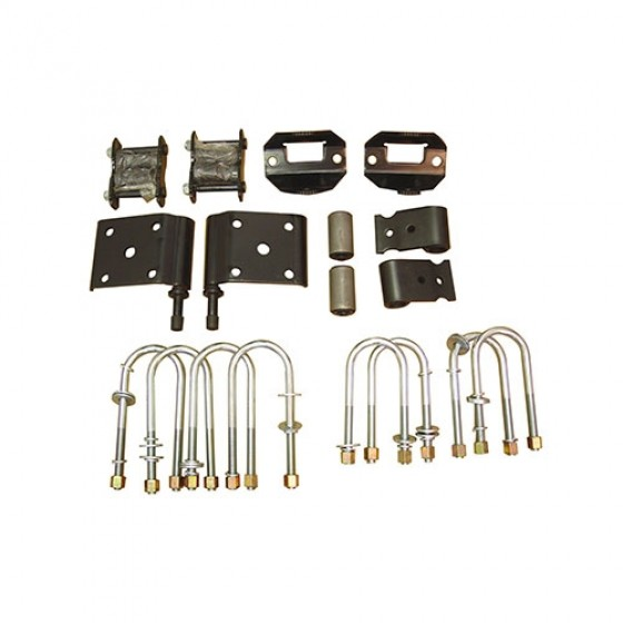 Complete Rear Leaf Spring Mounting Kit, 76-86 CJ