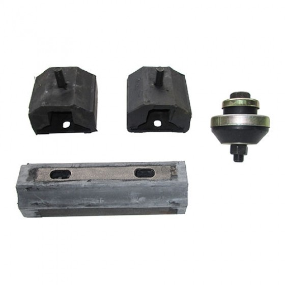 Engine, Transmission & Transfer Case Mount Kit (insulators), 62-68 Willys & Jeep Truck, Station Wagon with 6-230 OHC engine