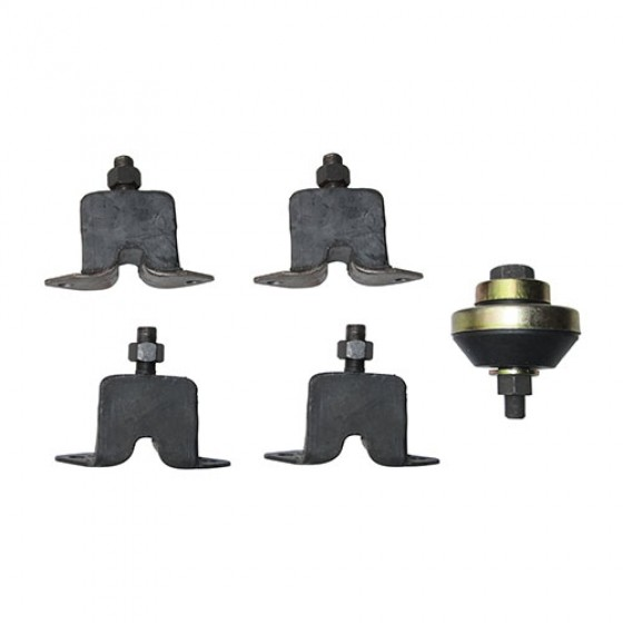 Engine, Transmission & Transfer Case Mount Kit (insulators), 46-58 Truck, Station Wagon with 6-226 engine