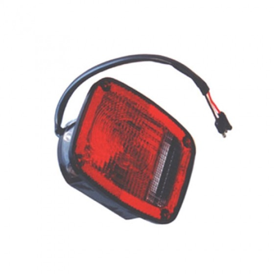 Driver Side Tail Lamp in Black, 76-80 CJ