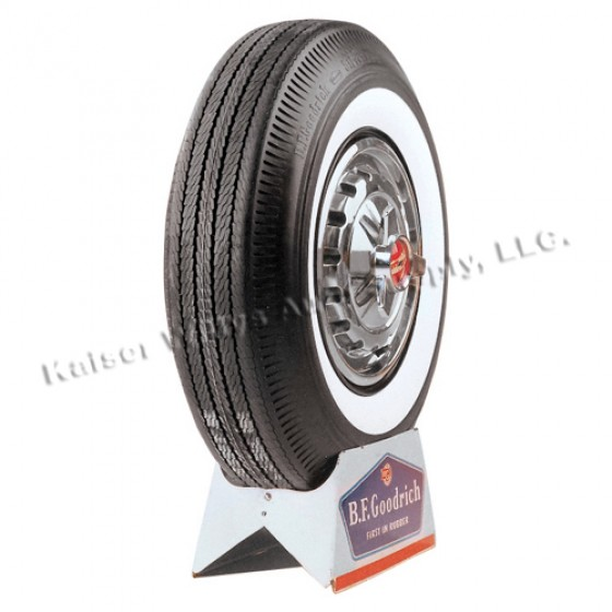 """BF Goodrich Road Tread Tire 6.70 x 15"""" White Wall  Fits  41-71 Jeep & Willys"""