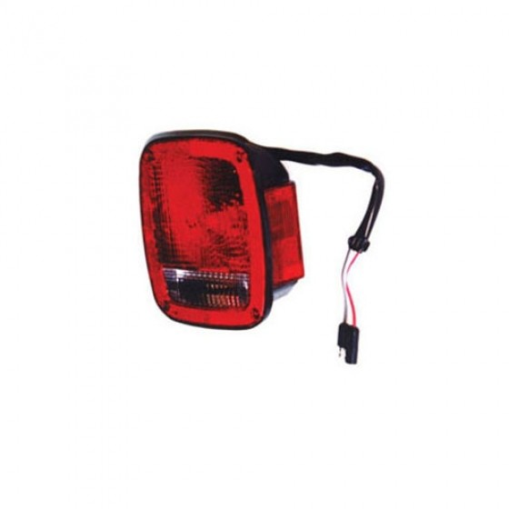 Driver Side Tail Lamp in Black, 81-86 CJ