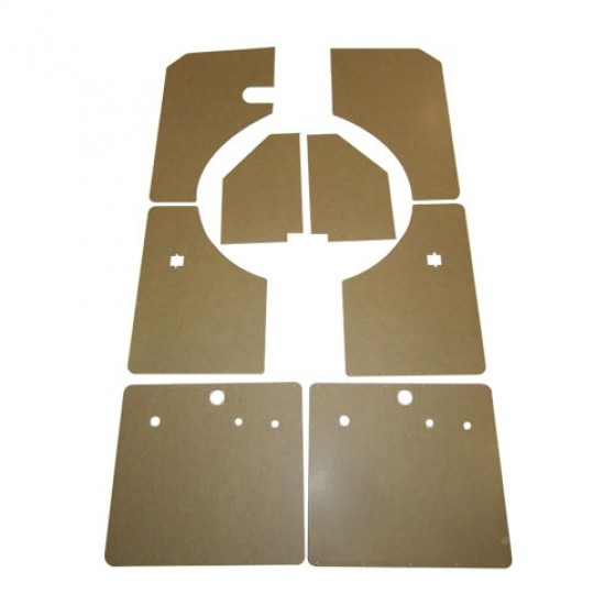 Complete 8 Piece Early Interior Door & Kick Panel Kit, 46-53 Station Wagon