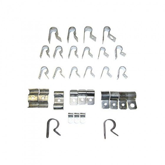 Wiring Harness Clip Set Kit Fits 41-45 GPW on trailer wiring clips, electric ford harness clips, safety harness clips,