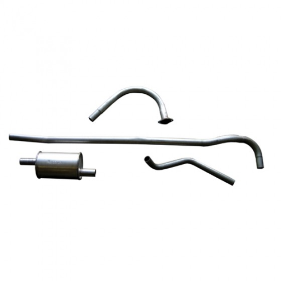Complete Exhaust System Kit, 46-71 CJ-2A, 3A, 3B, 5