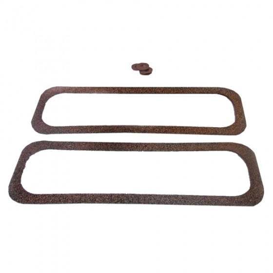 Valve Spring Side Cover Gasket Set, 50-55 Station Wagon, Jeepster with 6-161 engine