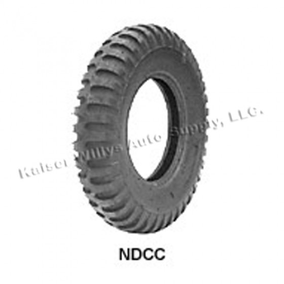 """STA Non Directional Tire 7.00 x 16"""" 6 ply Round Shoulder  Fits  41-71 Jeep & Willys"""
