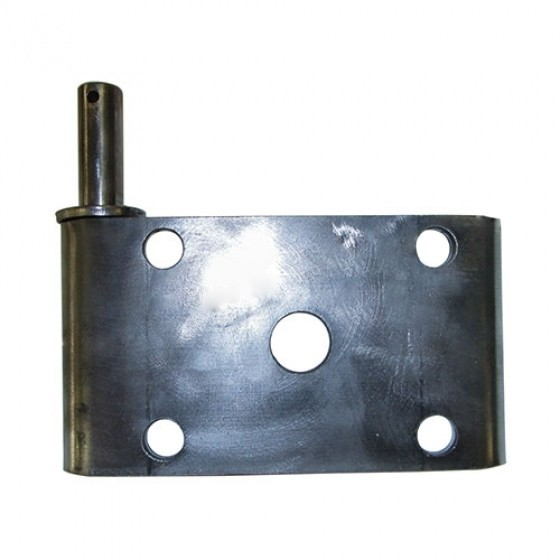 Rear Driver Side Shock Mount Plate, 46-56 Willys & Jeep Truck with Timken (clamshell) rear axle